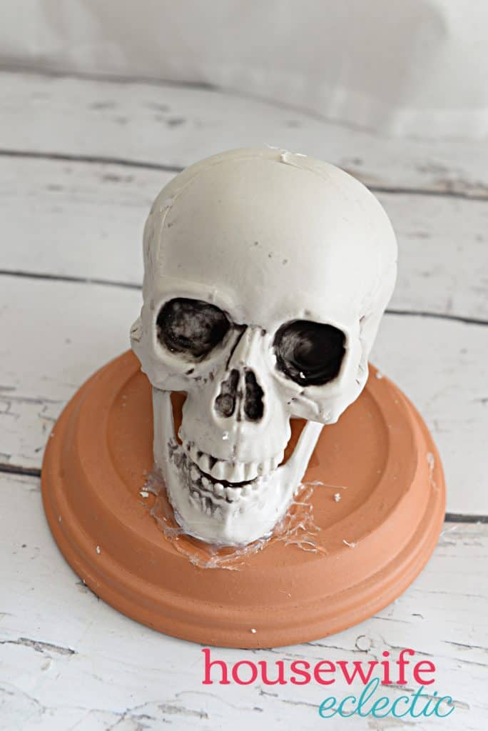Housewife Eclectic: Skull Candle Holder