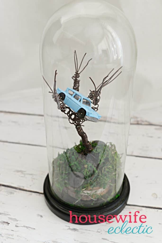 Housewife Eclectic: Harry Potter DIY Wire Whomping Willow