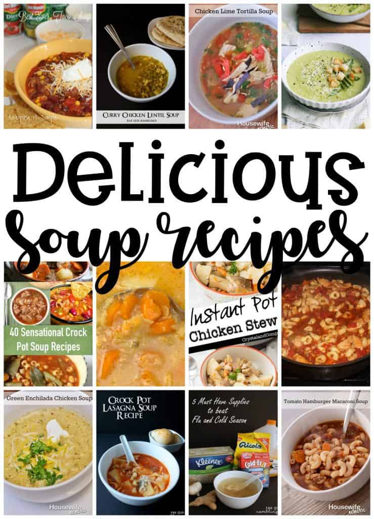 Delicious Soup Recipes Housewife Eclectic