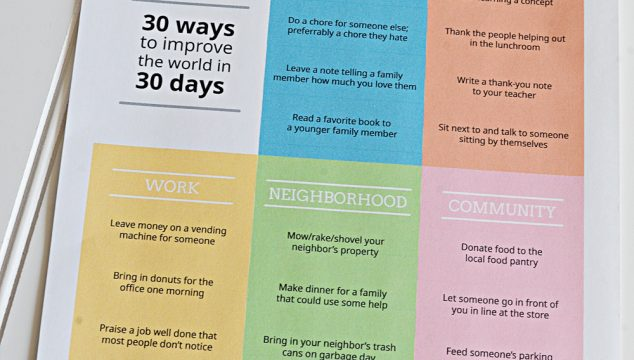 30 Ways To Improve The World In 30 Days