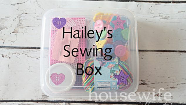 Personalized Sewing Box for Kids with Cricut