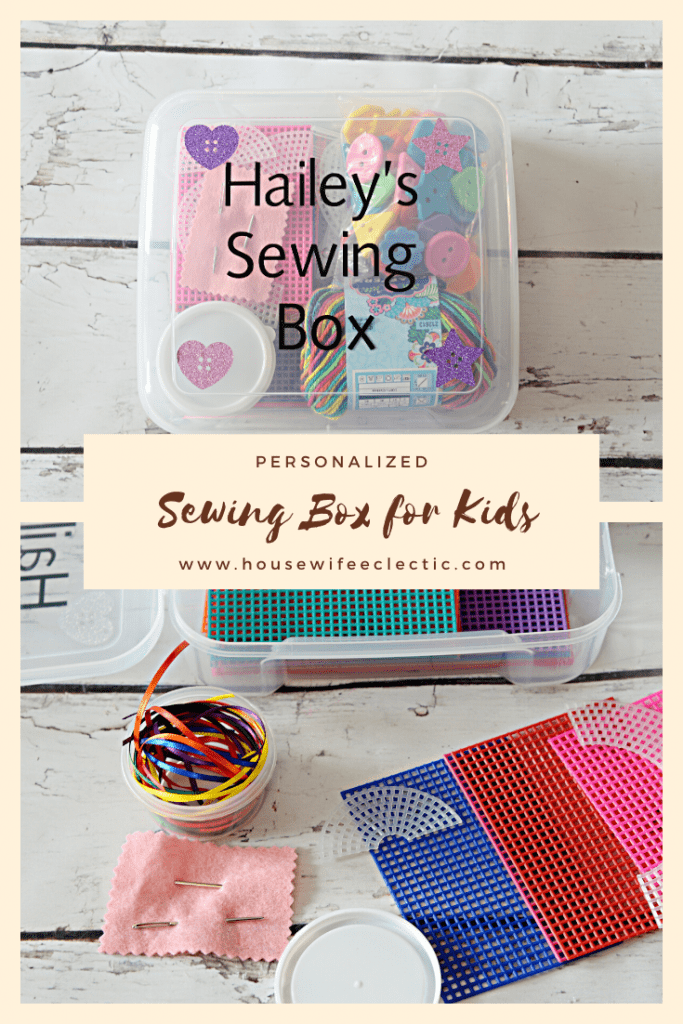Housewife Eclectic: Personalized Sewing Box for Kids