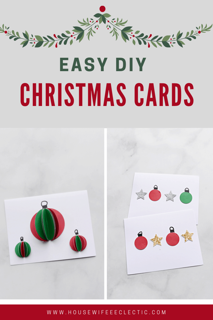 Housewife Eclectic: Easy DIY Christmas Cards
