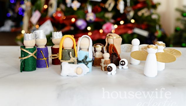 Easy DIY Peg Nativity