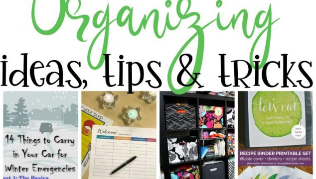 Organizing Ideas, Tips and Tricks