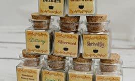 Harry Potter Potion Spice Jar Labels