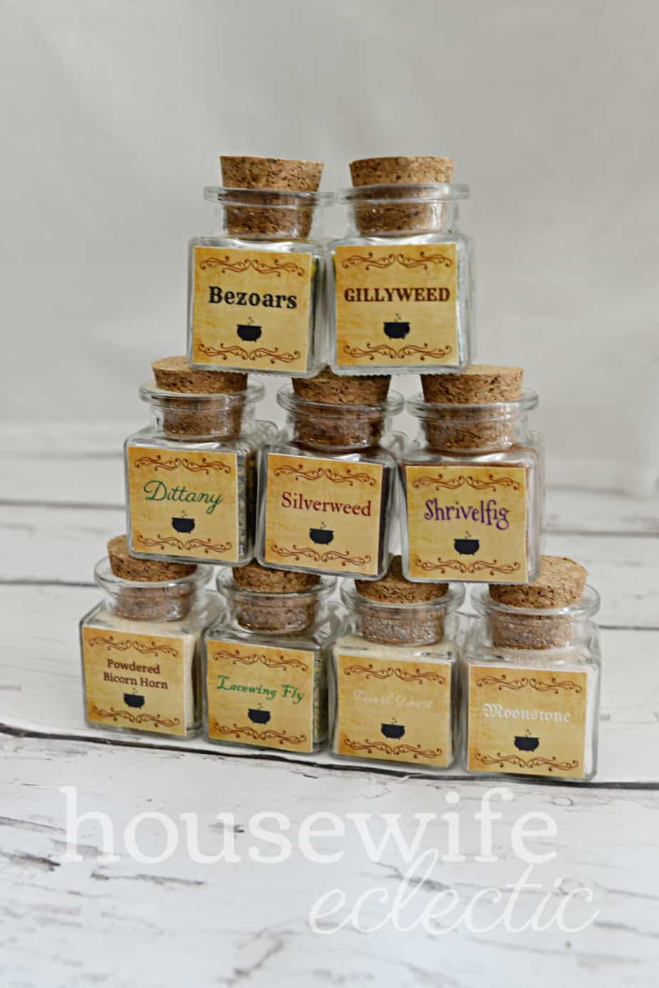 Housewife Eclectic: Harry Potter Potion Spice Jar Labels