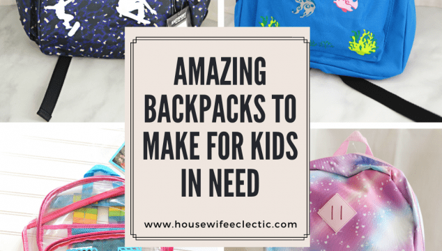 Amazing Backpacks to Make For Kids in Need with Your Cricut