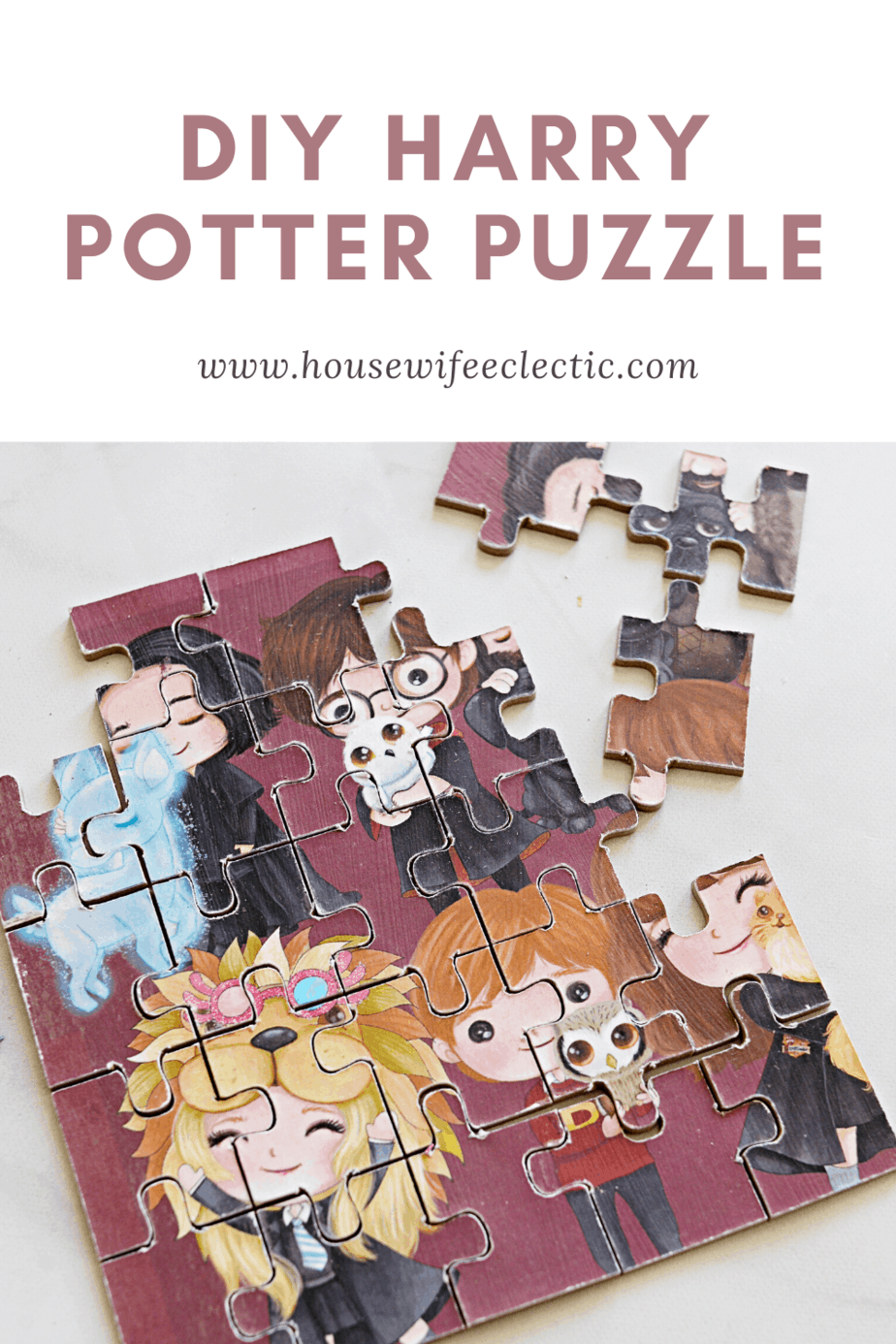 Housewife Eclectic: Easy Cricut Kids Crafts- Harry Potter Puzzle