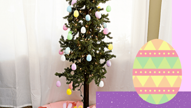 Turn your Christmas tree into an Easter Tree