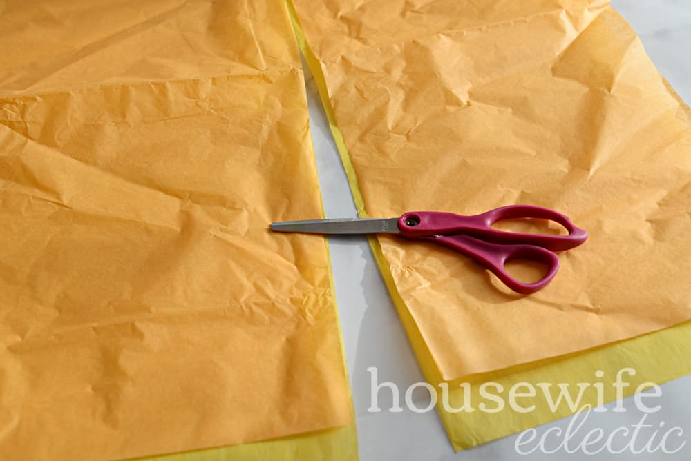 Housewife Eclectic: DIY Tissue Paper Marigolds