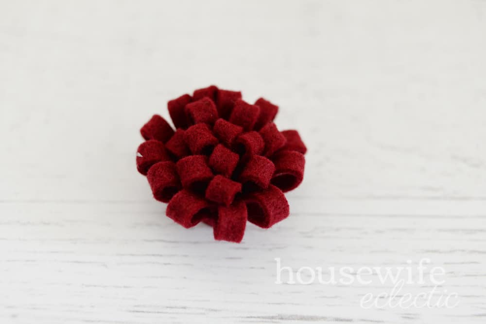Easy Loopy Felt Flowers